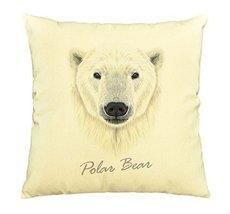 Vietsbay Portrait of Polar Bear Printed Cotton Decorative Pillows Case VPLC - $15.99