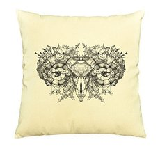 Vietsbay Aries skull with horns Printed Cotton Decorative Pillows Case VPLC - $15.99