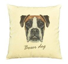 Vietsbay Portrait of Boxer dog Printed Cotton Decorative Pillows Case VPLC - $15.99