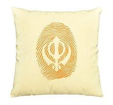 Vietsbay Sikh Symbol Thumb Printed Printed Cotton Decorative Pillows Cas... - $15.99