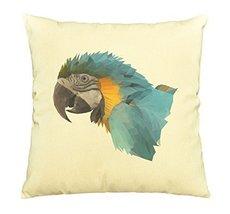 Vietsbay Colorful Macaw Parrot Printed Cotton Decorative Pillows Case VPLC - $15.99