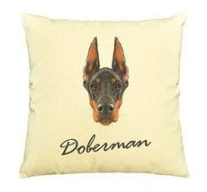 Vietsbay Doberman Pinscher dog Printed Cotton Decorative Pillows Case VPLC - $15.99