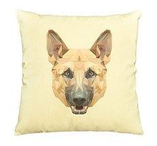 Vietsbay Dog German in geometric pattern style Printed Cotton Pillows Ca... - $15.99