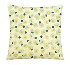 Vietsbay Watercolor with daisies on the polka dot Print Cotton Pillows C... - $15.99