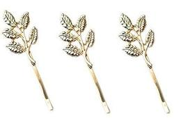 6-Count Gold Leaf Hair Clips for Women