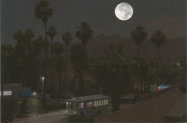 Night Life in Palm Springs Fine Art Postcard Photograph and Digital Design