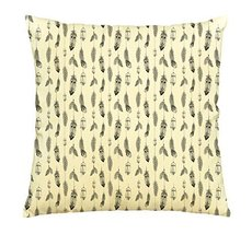 Vietsbay Feathers Pattern Printed Cotton Pillows Cover Cushion Case VPLC - €13,99 EUR