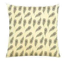 Vietsbay Hand drawn black feathers Printed Cotton Decorative Pillows Cas... - $15.99