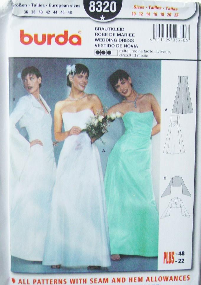 Burda 8320 Sewing Pattern: 1 listing