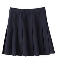Beautifulfashionlife Women's High Waist Pleated Mini Skirt( S, Dark blue) - $38.60