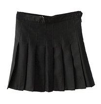 Beautifulfashionlife Women's High Waist Solid Pleated Mini Skirt(L, Black) - $49.49