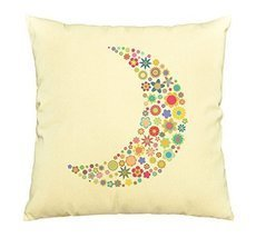 Vietsbay Multicolored Moon Printed Cotton Decorative Pillows Case VPLC - $15.99