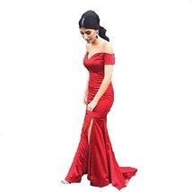 Fanmu Off Shoulder Split Mermaid Prom Dresses Evening Gowns Red US 2 - $109.99