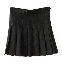 Beautifulfashionlife Women's High Waist Solid Pleated Mini Skort (S , Black) - $38.60