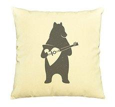 Vietsbay Bear's standing to play music Printed Cotton Pillows Case VPLC - $15.99