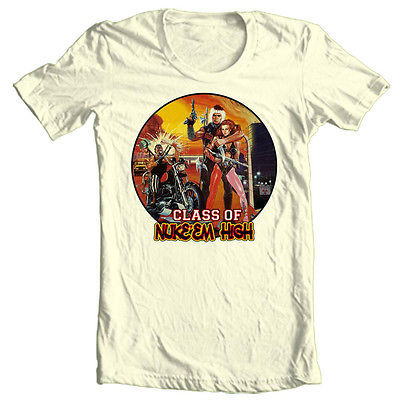 Class of Nuke Em High T shirt Toxic Avenger Tromaville Surf Nazis 80s movie tee