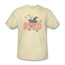 Johnny Bravo Stud T shirt cartoon network 100% cotton beige graphic tee CN253 - $19.99+