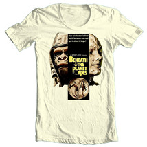 Beneath Planet of Apes T-shirt retro classic movie 100% cotton graphic white tee image 2