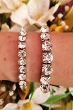 Tennis Bracelet Swarovski Bracelet 79.2ct 18k White Gold Plated Jewelry... - $55.00
