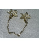 Vintage Light Goldtone Flower with Faux Pearl & Aurora Borealis Accent S... - $10.39