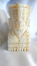 Mexican African Marble Totem Pole Type Book Ends - $25.00