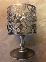 Bath & Body Works Silver Leaf Flower Pedestal Candle Holder - $28.00