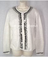 Kathie Lee Embellished Zip Front Cardigan Medium OOPS SALE from QVC - $16.33