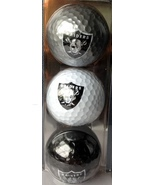 Oakland Raiders golf balls.  Approved NFL 3 pack  NEW in pkg    - $9.50