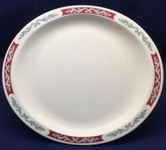Syracuse China Embassy Oval Platter Maroon Bord... - $24.99
