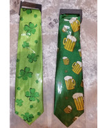 St. Patrick's Day Novelty Tie Irish Shamrocks Ireland 4 Leaf Clover or B... - $15.00