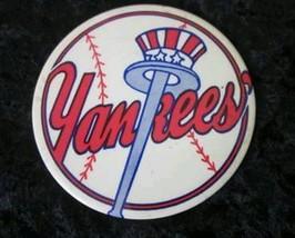 NY YANKEES PIN BUTTON VINTAGE PART OF YANKEE HISTORY! TOP HAT AND BAT - $20.00