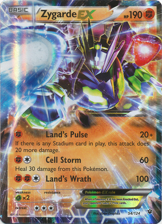 Zygarde EX 54/124 Holo Ultra Rare Fates Collide Pokemon Card