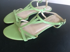 Reducced! Talbots Green Strappy Sandals Size 6.5 Medium - $22.00