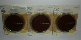 Covergirl Clean Pressed Powder #160 Classic Tan Normal Skin Compact Lot x3 WORN - $20.09