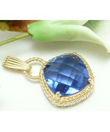 Technibond Simulated Faceted Tanzanite Gold Pen... - $38.00