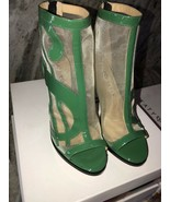 """Katy Perry The Richie Mesh Patent Heels Green Size 7.5M New In Box 4.25""""... - $74.25"""