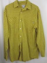Carhartt Shirt Large Yellow Plaid Button Down Long Sleeve 100% Cotton Me... - $49.99