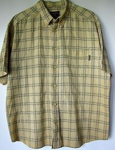 Woolrich Shirt XL Yellow Plaid Short Sleeve Button Down Extra Large Mens  - $34.99