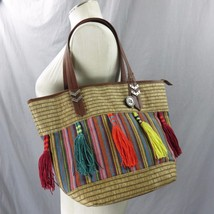 The Sak Multicolor Satchel Tropical Purse Handb... - $65.15