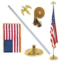 8 Feet 3PC Alum Flag Pole Eagle, Base Tassel Flag - $158.00