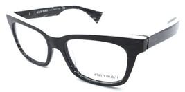 Alain Mikli Rx Eyeglasses Frames A03021 C015 50x17 Black Diamond White Italy - $105.06