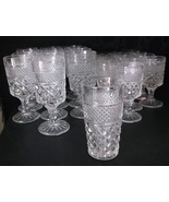 Anchor Hocking Wexford 58 Pc Goblets Desserts Lg Bowls Pitcher Tumblers ... - $349.98