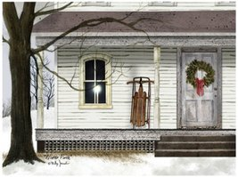 Ohio Wholesale Radiance Lighted Winter Porch Canvas Wall Art, Large, fro... - $68.16
