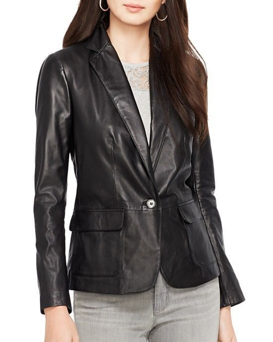 WOMEN BIKER MOTORCYCLE CASUAL SLIM FIT RIDER REAL GENUINE  LEATHER JACKET-A98