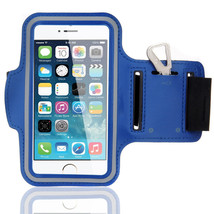 Sports Running Workout Gym Armband Case Cover Samsung Galaxy Note 3 4 Blue - $4.99