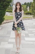 PF0134 Sweet & elegant halter mini dress w bow, cotton, Size s,m,l, pink - $28.80