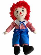 "Vintage Raggedy Andy Knickerbocker Doll 24""  Yarn Hair I Love You Stamp ... - $18.69"