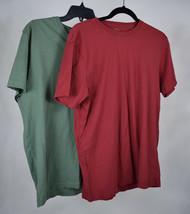 J. Crew T-Shirt Broken In Red Green V-Neck SS M Lot 2 - $24.69