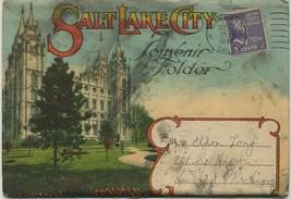 1944 SOUVENIR POSTCARD FOLDER SALT LAKE CITY UTAH~20 IMAGES - $4.33