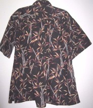 Vintage 2XL men's shirt Cooke Street Honolulu Hawaiian Black cotton bamb... - $6.00